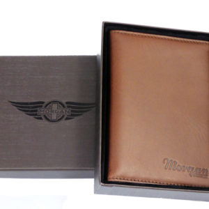 Leather Passport Holder & Card Pockets - Brown