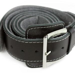 Bonnet Strap - Black Belt/Chrome Buckle
